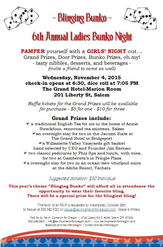 Invite #3 6th Annual Ladies Bunko